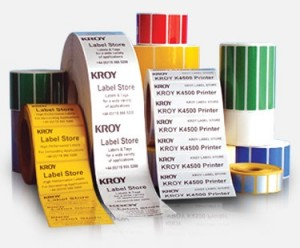Kroy labels from Q-tron