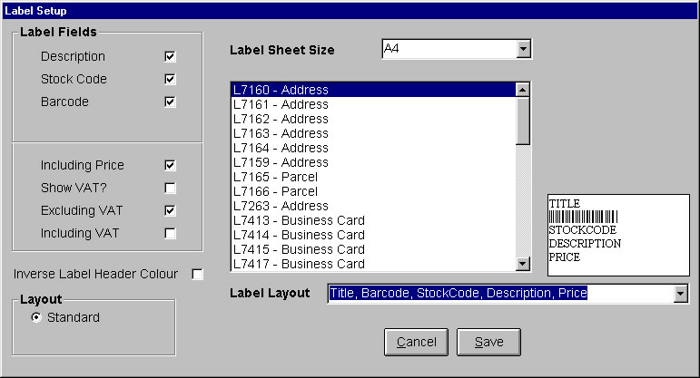 The Barcode Interface Software