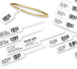 Jewellery Barcode Tags